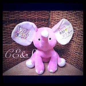 Animal Cubbie Big ear Elephant Personalized